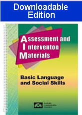 Assessment and Intervention Materials -Basic Language and Social Skills (Downloadable Edition)