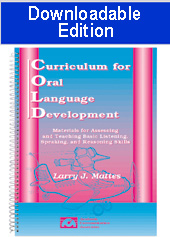 Curriculum for Oral Language Development (Downloadable Edition)