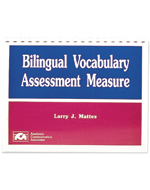 Bilingual Vocabulary Assessment Measure - COMPLETE KIT