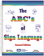 ABC's of Sign Language - Illustrated by an artist with paralysis in both arms