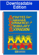 Activities for Language Improvement and Vocabulary Expansion (Downloadable Edition)